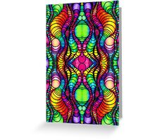 Colorful Tube Worms in Symmetry Greeting Card