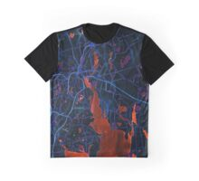 Dark map of Providence Graphic T-Shirt