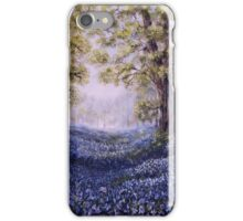 """Mary's Bluebells"" - oil painting iPhone Case/Skin"