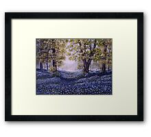 """Mary's Bluebells"" - oil painting Framed Print"