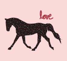 Cute Horse, Hearts and Love Baby Tee