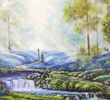 """Bluebell Heaven"" - Oil painting Sticker"