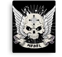Rebel Skull Canvas Print