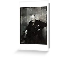 Sir Winston Churchill Prime Minister of England Greeting Card
