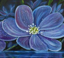 Flower Pool - Oil Painting Sticker