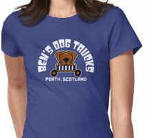Ben's Dog Trucks (Dark Background) Womens Fitted T-Shirt