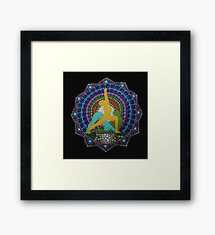 Ashtanga yoga dot art photography Framed Print