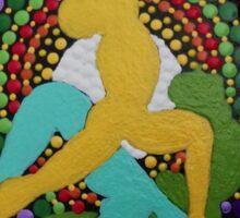 Ashtanga yoga dot art photography Sticker