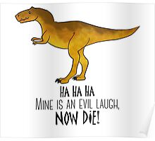 Evil laugh tee Poster