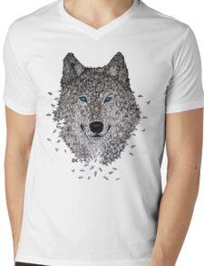 Vector Wolf Mens V-Neck T-Shirt
