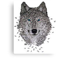 Vector Wolf Canvas Print