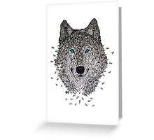 Vector Wolf Greeting Card