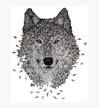 Vector Wolf Photographic Print