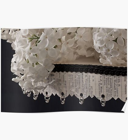 Lilac Blossom On Beaded Pedestal Poster