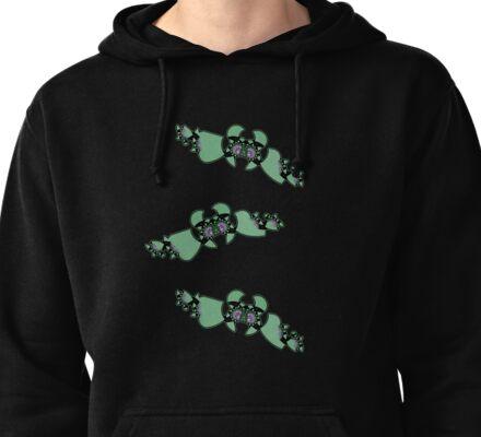 Geek style flying fractals pattern design II Pullover Hoodie