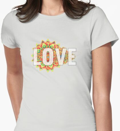 Decorative Inspirational and Motivational Girly Love Text T-shirts and Gifts Womens Fitted T-Shirt