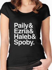 PLL Ships - white text Women's Fitted Scoop T-Shirt