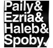 PLL Ships - white text Poster