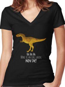 Evil laugh - darker backgrounds Women's Fitted V-Neck T-Shirt