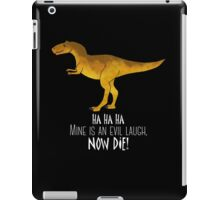 Evil laugh - darker backgrounds iPad Case/Skin