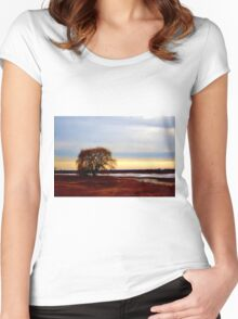 Willow at Sunset Women's Fitted Scoop T-Shirt