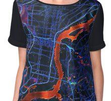 Dark map of Philadelphia metropolitan area Chiffon Top