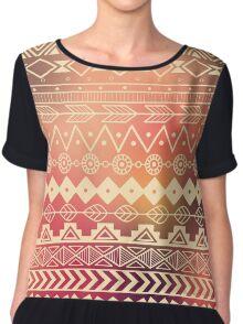 Aztec pattern 01 Chiffon Top