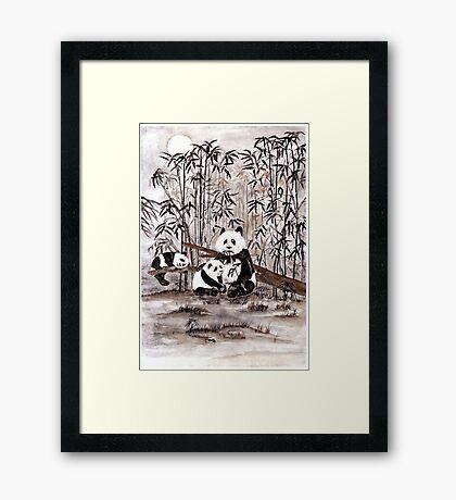 Bamboo  picnic Framed Print
