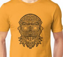 Beard and Sunglasses Sugar Skull - Day of the Dead Unisex T-Shirt