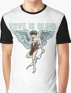 Love is Blind Cute Cool Vintage Cartoon Cupid T-shirts And Gifts Graphic T-Shirt