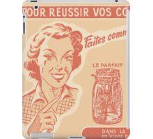 Retro Ad for Mason Jars iPad Case/Skin