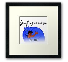 RIP Robin Williams - Genie, we're gonna miss you Framed Print
