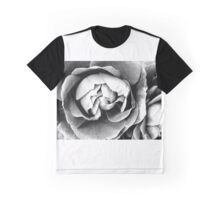 Black and White Rose Graphic T-Shirt