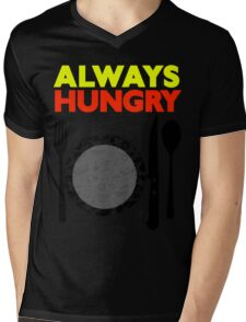Always Hungry [Yellow Red] | Stay Hungry Stay Foolish Shirts Mens V-Neck T-Shirt