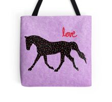Cute Horse, Hearts and Love Tote Bag