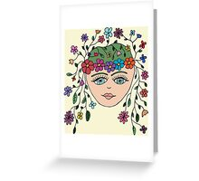 The Original Flower Child aka HIPPY Greeting Card