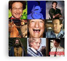 Robin Williams Collage Canvas Print