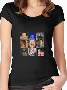 Robin Williams Collage Women's Fitted Scoop T-Shirt