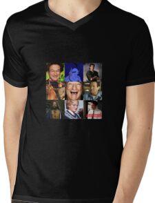 Robin Williams Collage Mens V-Neck T-Shirt