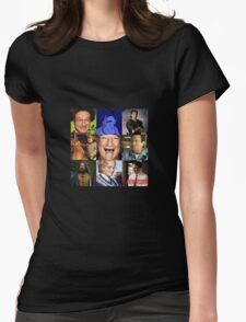 Robin Williams Collage Womens Fitted T-Shirt