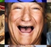 Robin Williams Collage Sticker
