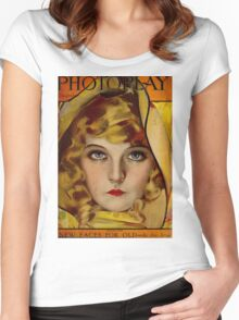 Lillian Gish - Photoplay 1921 Women's Fitted Scoop T-Shirt