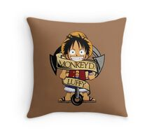 Chibi Luffy Throw Pillow