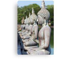 Buddha Statues, Seema Malakaya, Sri Lanka Canvas Print