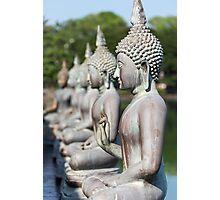 Buddha Statues, Seema Malakaya, Sri Lanka Photographic Print