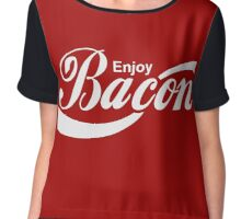 Enjoy Bacon Chiffon Top