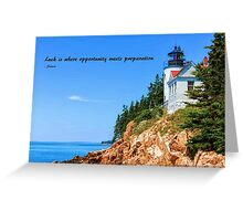 Bass Harbor Light Station Perched on a Rocky Cliff Greeting Card