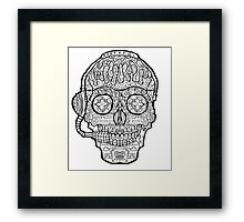 Video Game Sugar Skull - Day of the Dead Framed Print