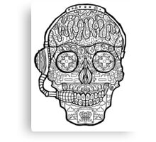 Video Game Sugar Skull - Day of the Dead Canvas Print