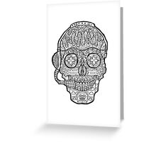 Video Game Sugar Skull - Day of the Dead Greeting Card